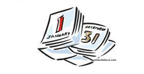 Tờ lịch cuối năm